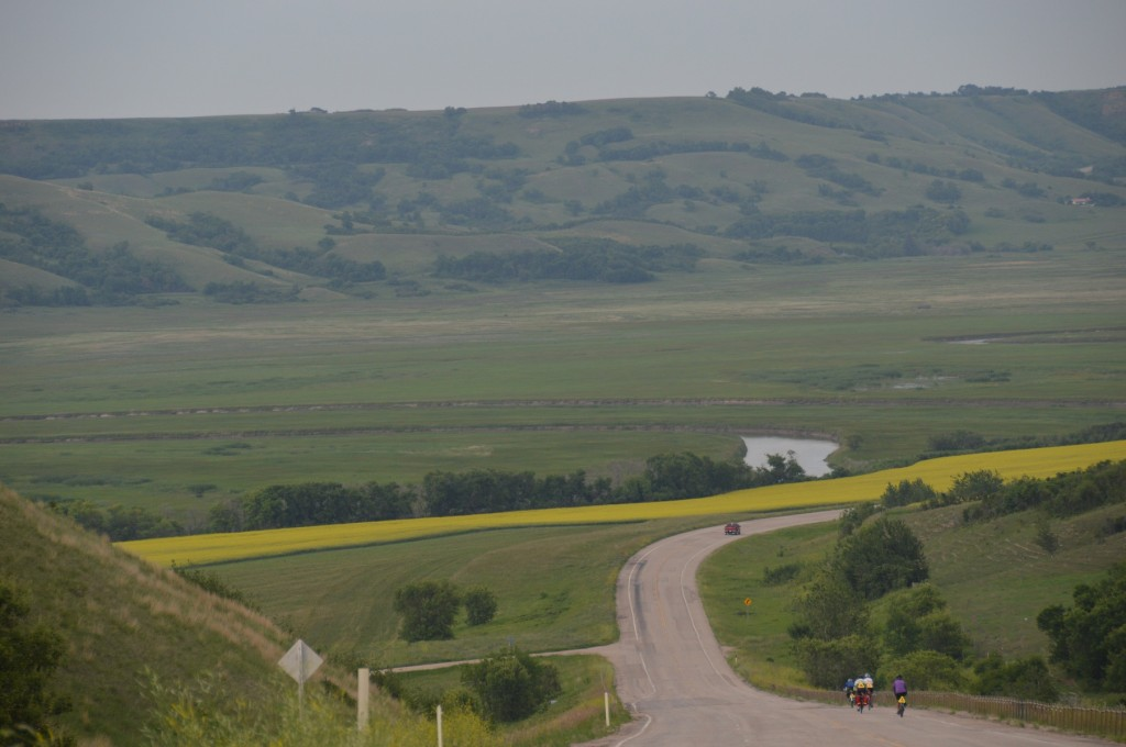 entering the Qu'Appelle Valley on route to Crooked Lake