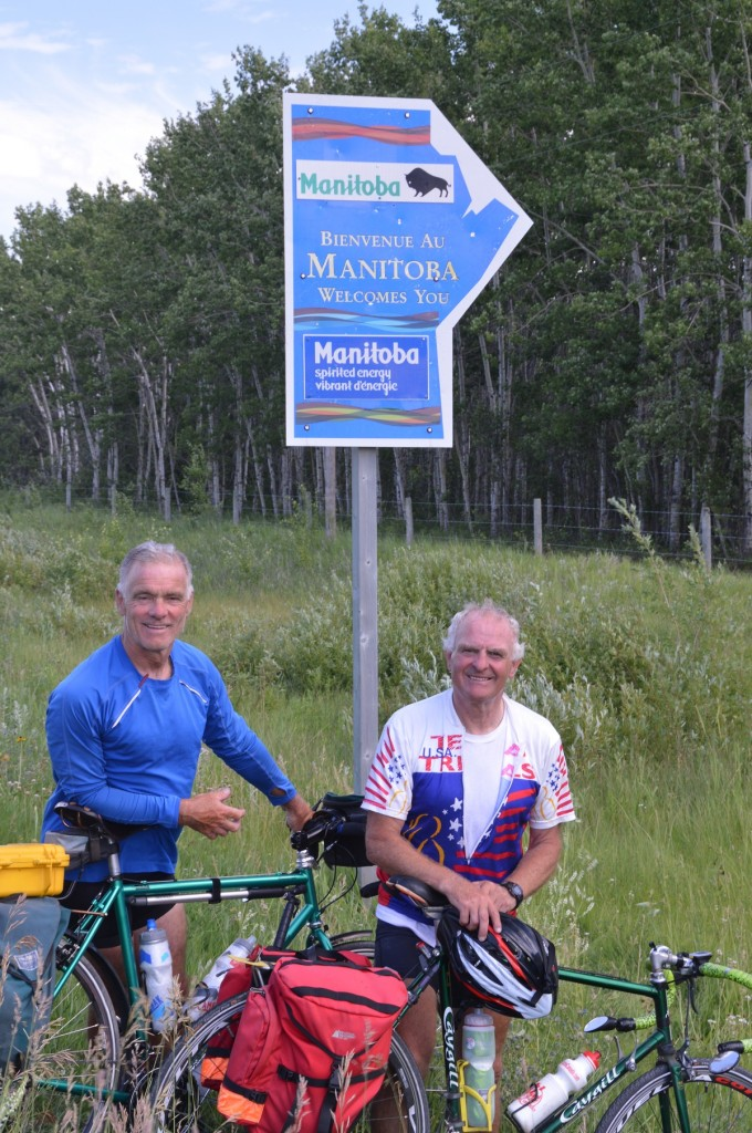 Dan and Bob about to enter Manitoba