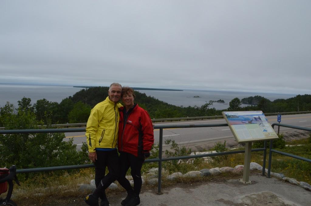 Dan & Joyce at Agawa Bay lookout