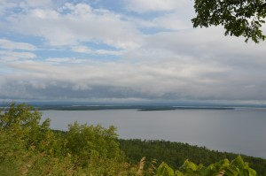 View NE from lookout along #6 on Manitoulin Island
