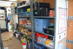 right side showing food shelves