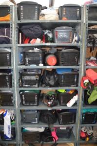 shelves for personal belongings
