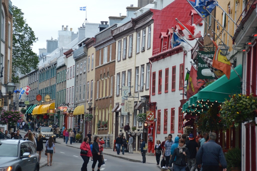 busy street in Old Town Quebec