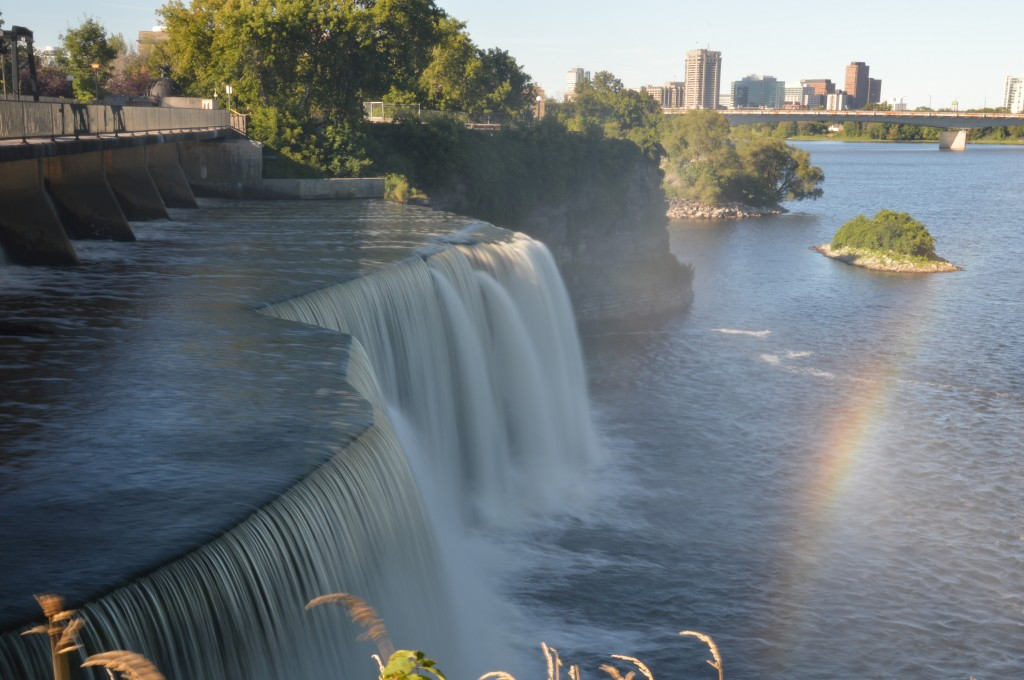 Rideau Falls, the Rideau flowing into the Ottawa River, Hull PQ in background