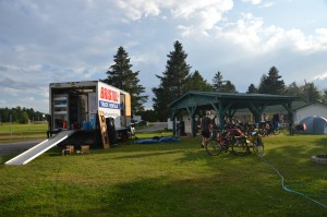 Camping Lac St. Michel w/ advantage of covered picnic area and other great facilities
