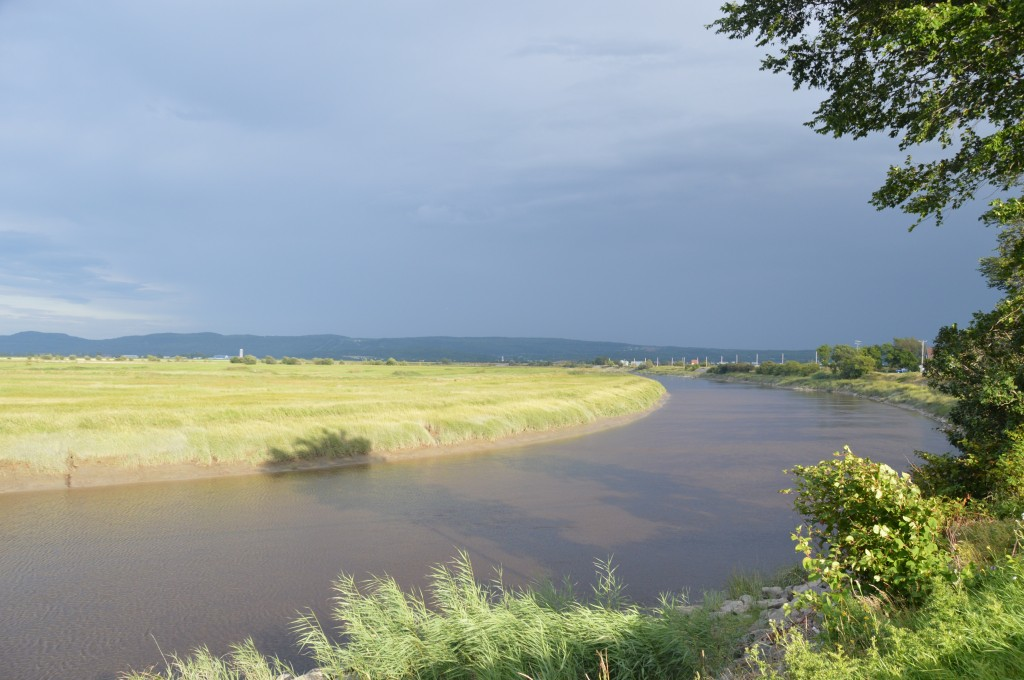 Riviere Ouelle with the storm that missed us in the background