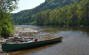 canoe of distinctive New Brunswick design