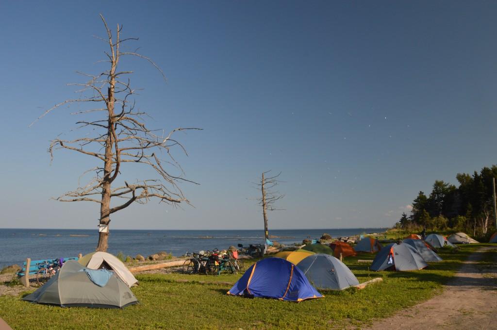 fantastic campsite at edge of Atlantic