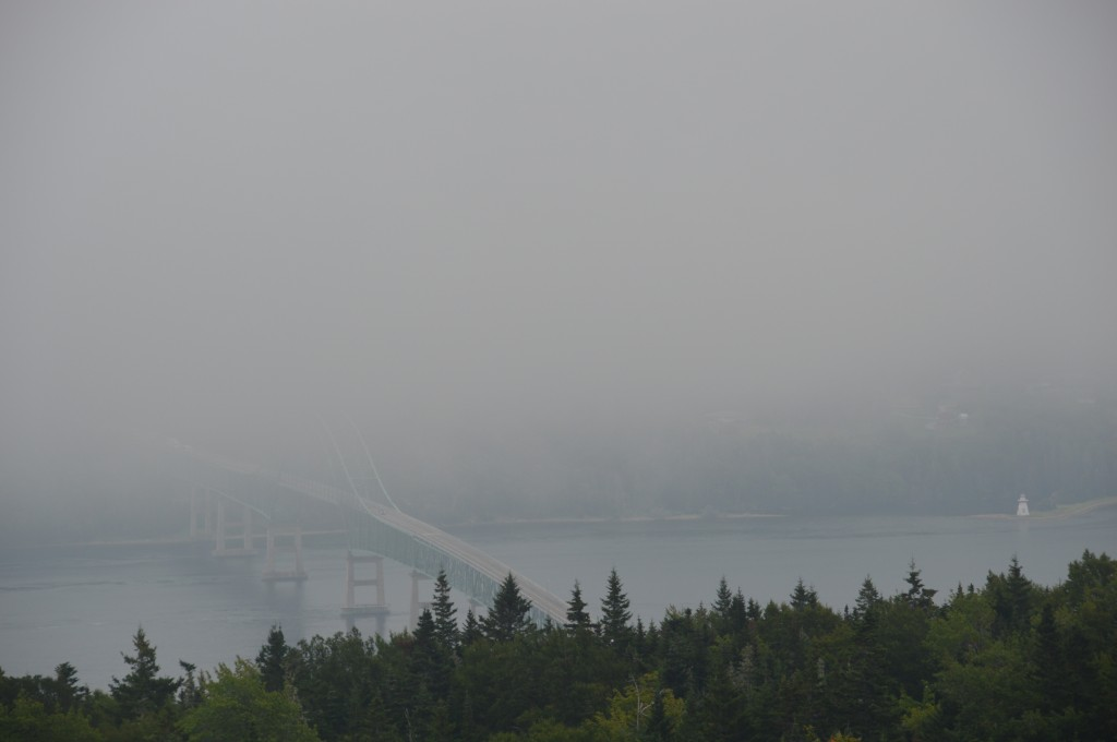 Seal Island Bridge, Cape Breton from atop Kelly Mountain